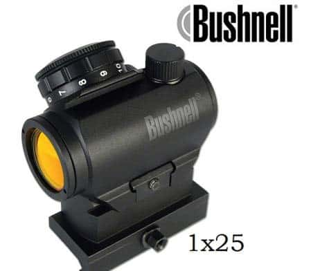 Bushnell Leuchtpunktvisier 1x25 AR Optics, 3 MOA Abs. inkl. hohe Montage - AR731306