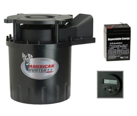 American Hunter DF 25 Direktional Futterautomat für Wild, Fisch und Forellen + 6V Akku  1