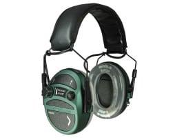 MePaBlu TWIN TEC Plus Schiess-Sport aktiver Gehörschutz mit Verstärkung 10-fach + SoftGel-Ohrpolster